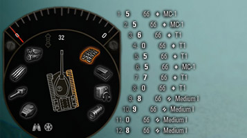 дамаг панель из версии xBox 360 версии world of tanks