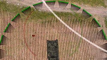 круг засвета 15 метров для кустов